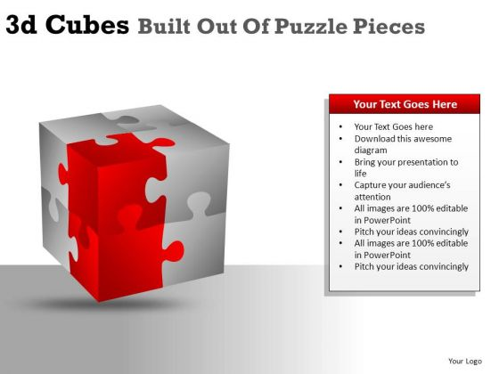 Construction 3d Cube Puzzle Pieces PowerPoint Slides And Ppt Diagram Templates