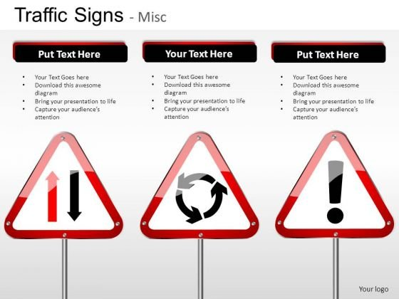Construction Signs Traffic Signs PowerPoint Slides And Ppt Diagram Templates