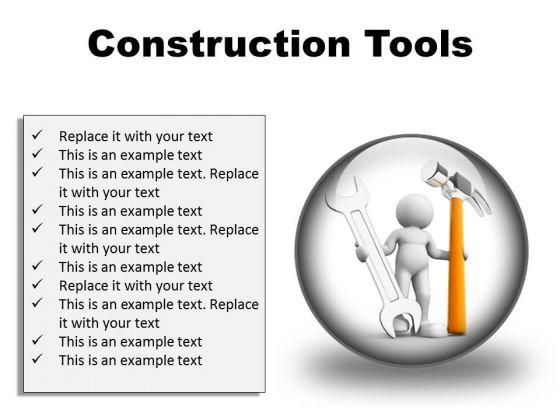Construction Tools Industrial PowerPoint Presentation Slides C
