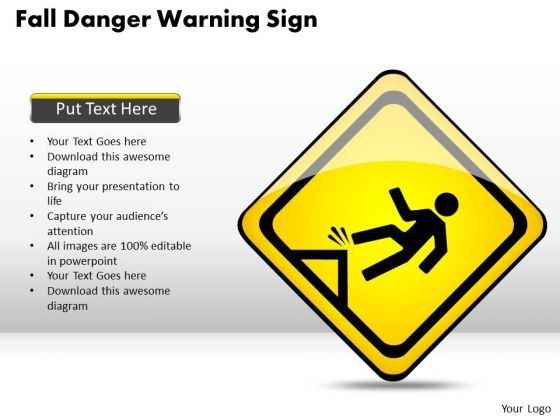 Consulting PowerPoint Template Fall Danger Warning Sign Templates