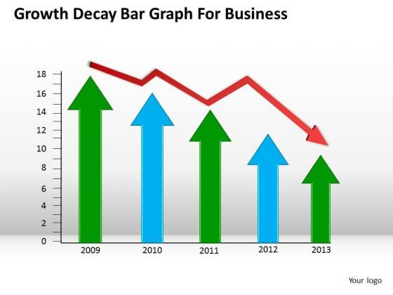 Consulting PowerPoint Template Growth Decay Bar Graph For Business Ppt Slides