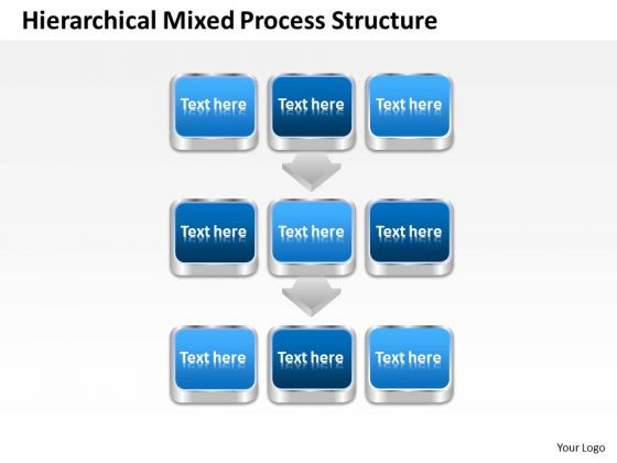 Consulting PowerPoint Template Hierarchical Mixed Process Structure Ppt Slides