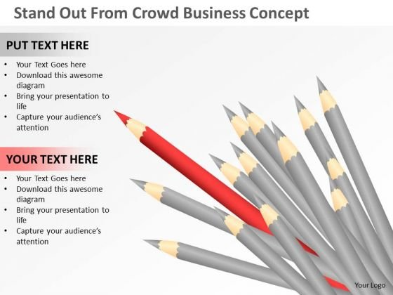 Consulting PowerPoint Template Stand Out From Crowd Business Concept Ppt Templates