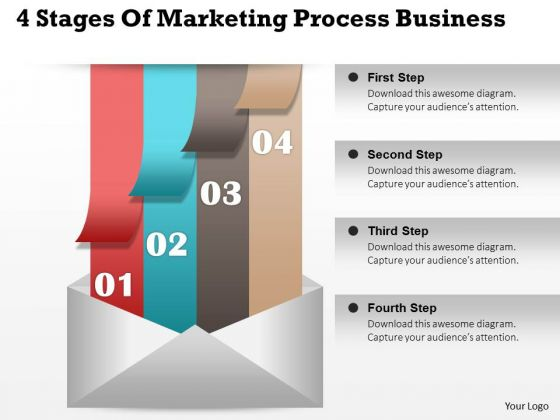 Consulting Slides 4 Stages Of Marketing Process Business Presentation