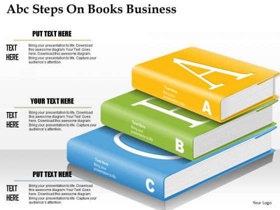 Consulting Slides Abc Steps On Books Business Presentation