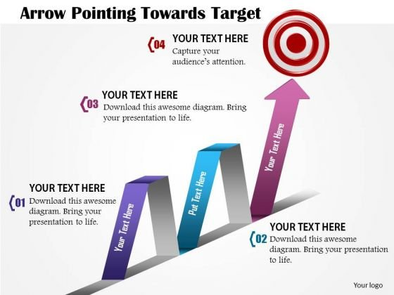 Consulting Slides Arrow Pointing Towards Target Business Presentation