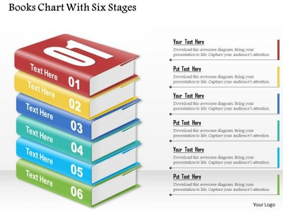 Consulting Slides Books Chart With Six Stages Business Presentation