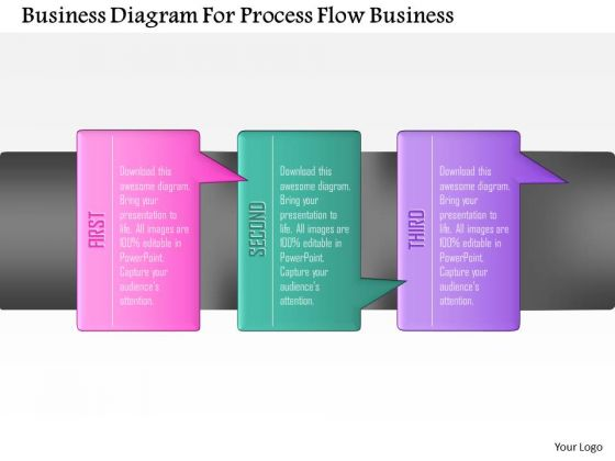 Consulting Slides Business Diagram For Process Flow Business Presentation