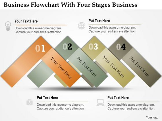 Consulting Slides Business Flowchart With Four Stages Business Presentation