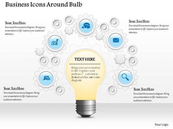 Consulting Slides Business Icons Around Bulb Business Presentation