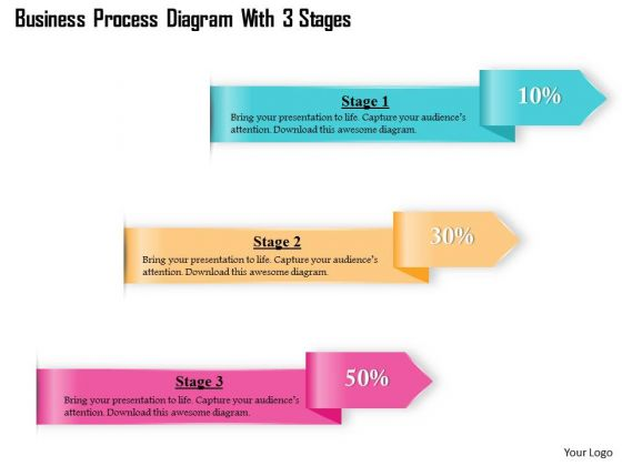 Consulting Slides Business Process Diagram With 3 Stages Business Presentation