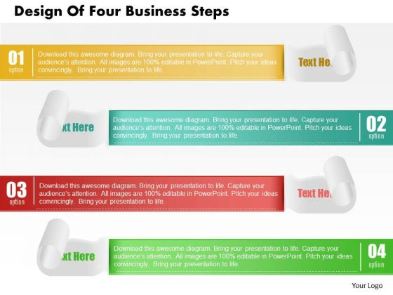 Consulting Slides Design Of Four Business Steps Business Presentation