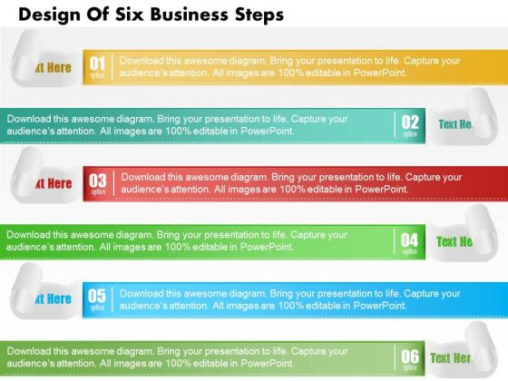 Consulting Slides Design Of Six Business Steps Business Presentation