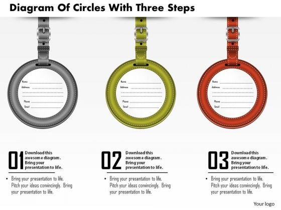 Consulting Slides Diagram Of Circles With Three Steps Business Presentation