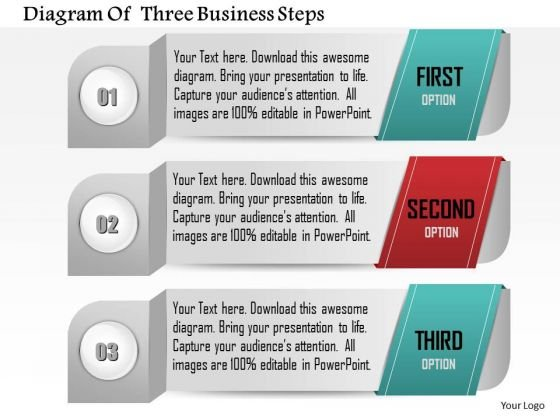 Consulting Slides Diagram Of Three Business Steps Business Presentation