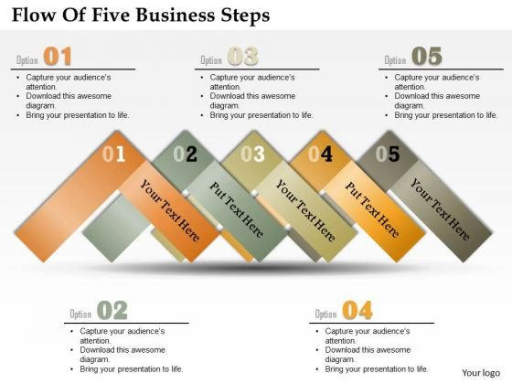 Consulting Slides Flow Of Five Business Steps Business Presentation