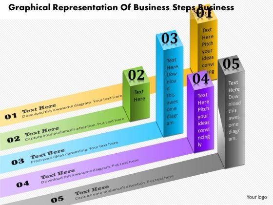 consulting slides graphical representation of business steps