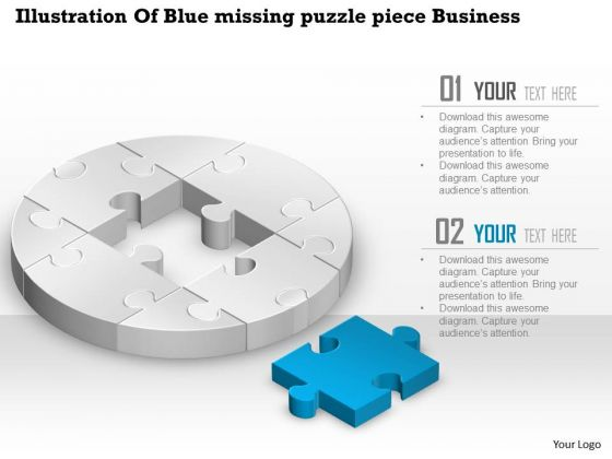 Consulting Slides Illustration Of Blue Missing Puzzle Piece Business Presentation