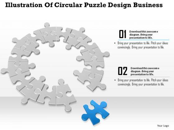 Consulting Slides Illustration Of Circular Puzzle Design Business Presentation