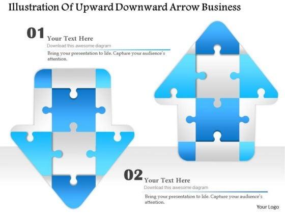 Consulting Slides Illustration Of Upward Downward Arrow Business Presentation