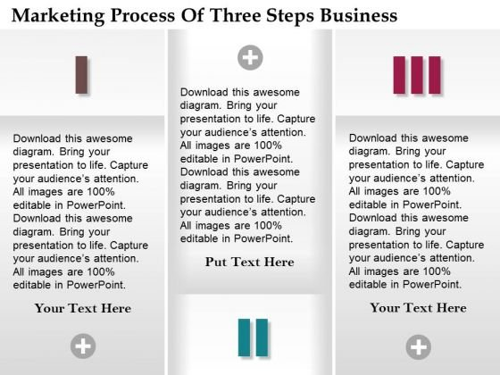 Consulting Slides Marketing Process Of Three Steps Business Presentation