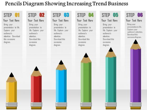 Consulting Slides Pencils Diagram Showing Increasing Trend Business Presentation