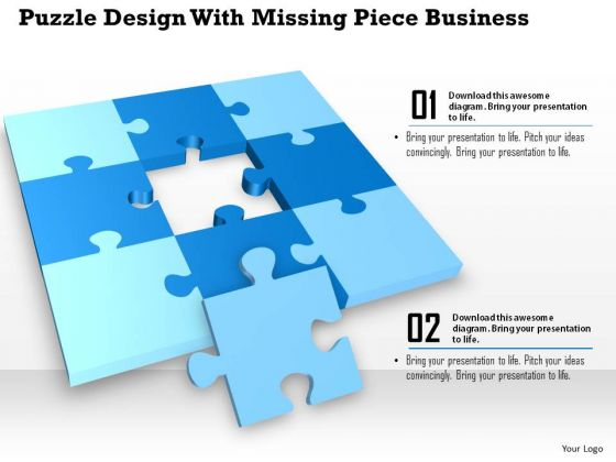 Consulting Slides Puzzle Design With Missing Piece Business Presentation