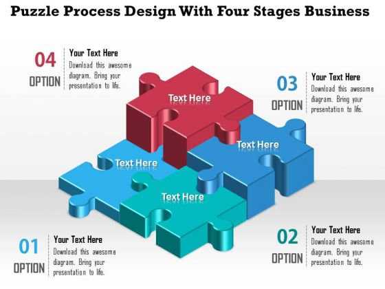Consulting Slides Puzzle Process Design With Four Stages Business Presentation