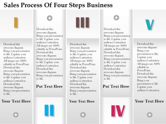 Consulting Slides Sales Process Of Four Steps Business Presentation