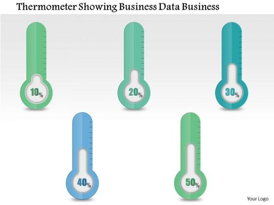 Consulting Slides Thermometer Showing Business Data Business Presentation