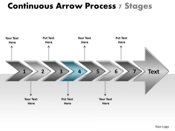 Continuous Arrow Process 7 Stages Free Electrical Schematic PowerPoint Templates