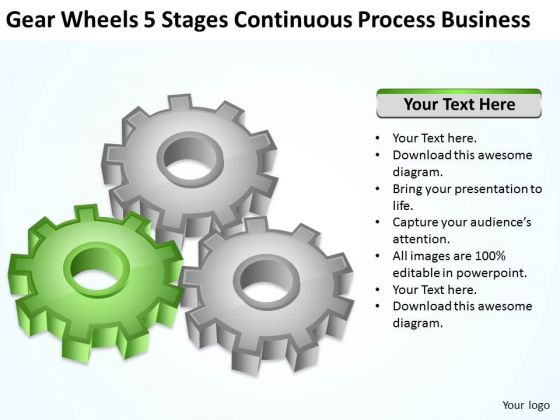 Continuous Process Business Ppt Examples Of Plans For PowerPoint Templates