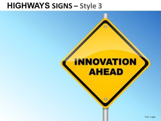 Contracting Highways Signs 3 PowerPoint Slides And Ppt Diagram Templates