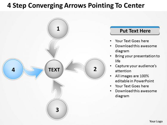 Converging Arrows Poiting To Center Circle Relative Circular Process PowerPoint Templates