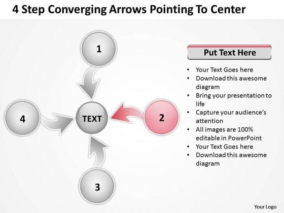 Converging Arrows Poiting To Center Relative Circular Process PowerPoint Template