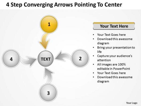 Converging Arrows Poiting To Center Relative Circular Process PowerPoint Templates