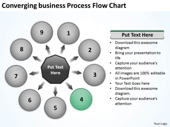 Converging Business Process Flow Chart Ppt Relative Cycle Arrow Diagram PowerPoint Templates