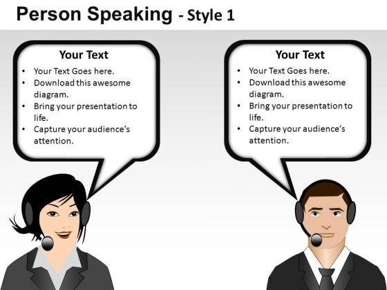 Conversation Person Speaking 1 PowerPoint Slides And Ppt Diagram Templates