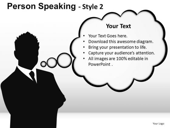 Conversation Person Speaking 2 PowerPoint Slides And Ppt Diagram Templates