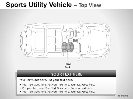 Cool Sports Utility Blue Vehicle PowerPoint Slides And Ppt Diagram Templates