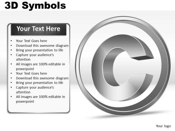 Copyright Symbol PowerPoint Slides Icon Graphics