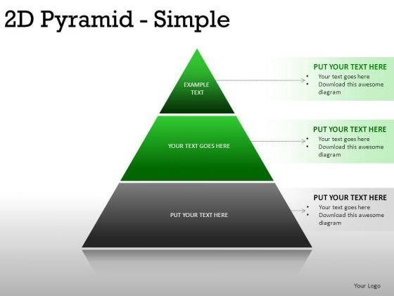 Corner 2d Pyramid Simple PowerPoint Slides And Ppt Diagram Templates