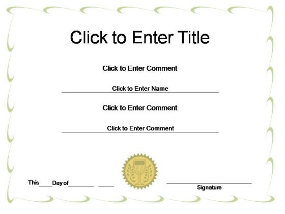 Corporate Award Certificate Powerpoint Templates  Powerpoint