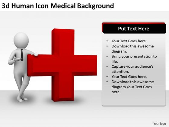 Corporate Business Strategy 3d Human Icon Medical Background Concepts