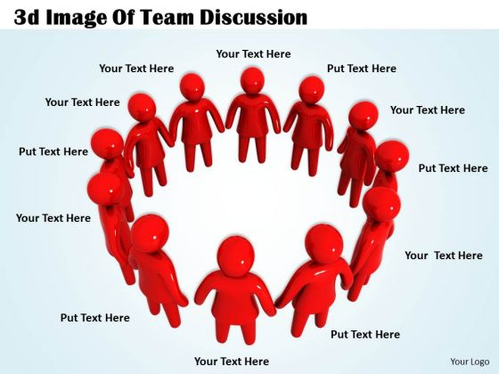Corporate Business Strategy 3d Image Of Team Discussion Adaptable Concepts