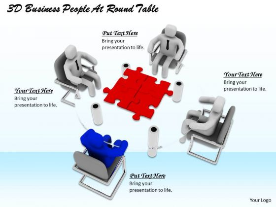 Corporate Business Strategy 3d People Round Table Adaptable Concepts