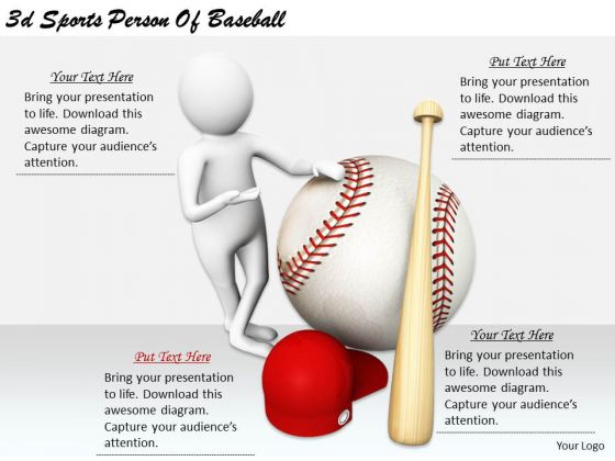Corporate Business Strategy 3d Sports Person Of Baseball Basic Concepts
