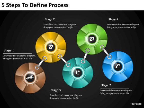 Corporate Business Strategy 5 Steps To Define Process Strategic Management Plan Ppt Slide