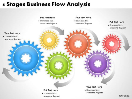 Corporate Business Strategy 6 Stages Flow Analysis Strategic Management Plan Ppt Slide