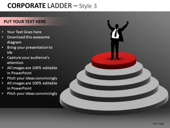 Corporate Ceo Business Ladder PowerPoint Ppt Templates